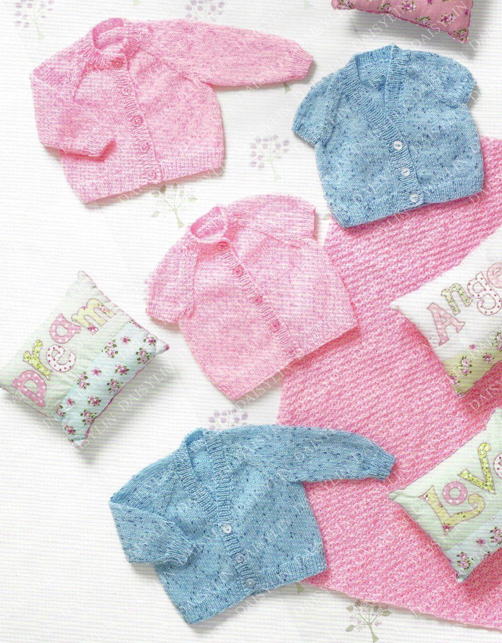 Instant PDF Digital Download premature baby doll cardigans & blanket ...