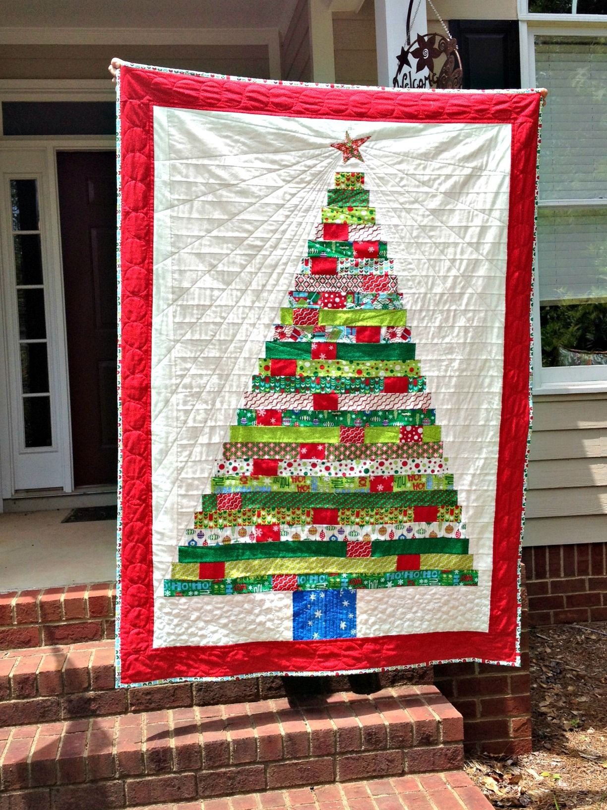 Treats From A Holiday Tree Quilt Christmas Tree Quilt Christmas Tree Quilt Pattern Tree Quilt Pattern