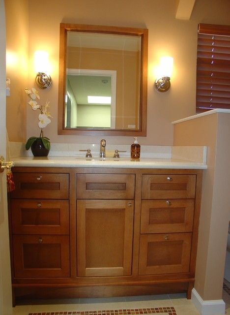 Vanities for Small Bathrooms  We can custom built a vanity to