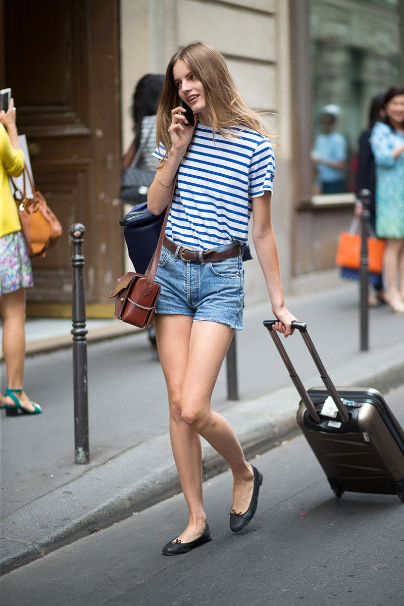 Bonjour Couture Style from the Rue | Breton stripes Couture style and Cutoffs
