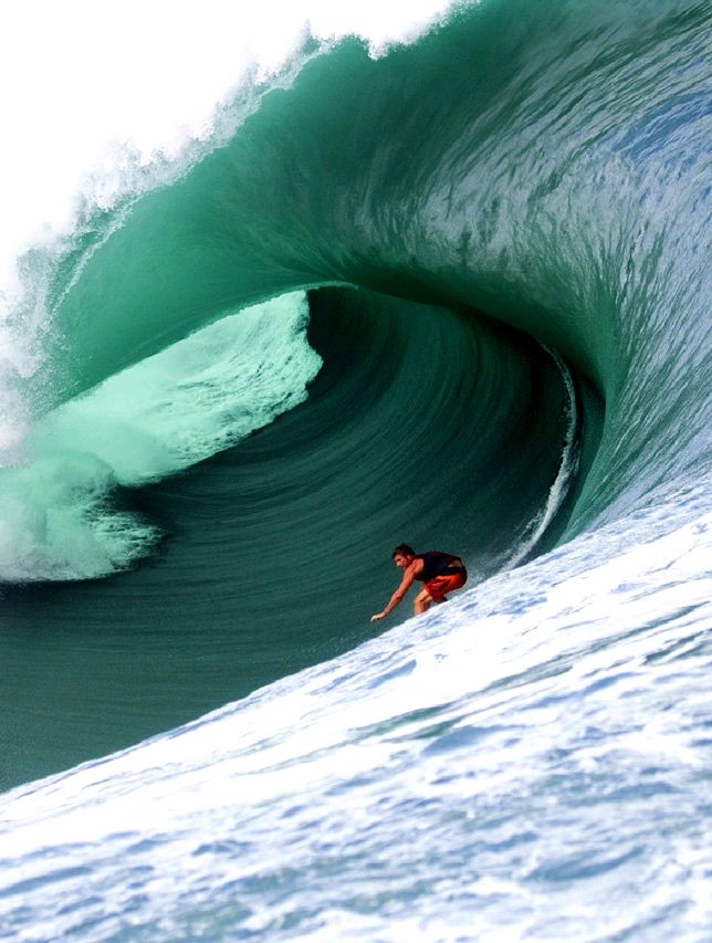 Belly Of The Beast Nathan Fletcher At Teahupoo Water Surfing Surfing Waves Surfing