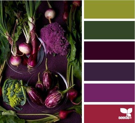 Produced purple palette