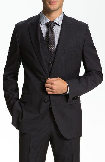 287835993 BOSS Black 'James/Sharp' Trim Fit Three Piece Suit available at #Nordstrom