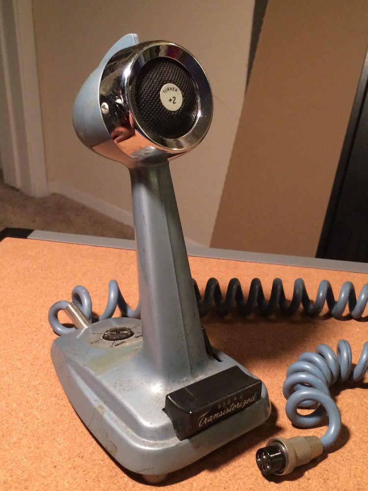 Vintage Turner SSB + 2 CB Ham Radio Transistorized Base Desk Power Microphone #Turner