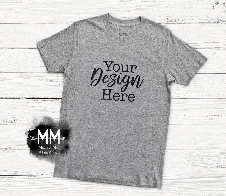 Download Download Free Gray T Shirt Mockup Gray Shirt Flat Lay Display Short Psd Free Psd Mockups Shirt Mockup Free Psd Mockups Templates Tshirt Mockup