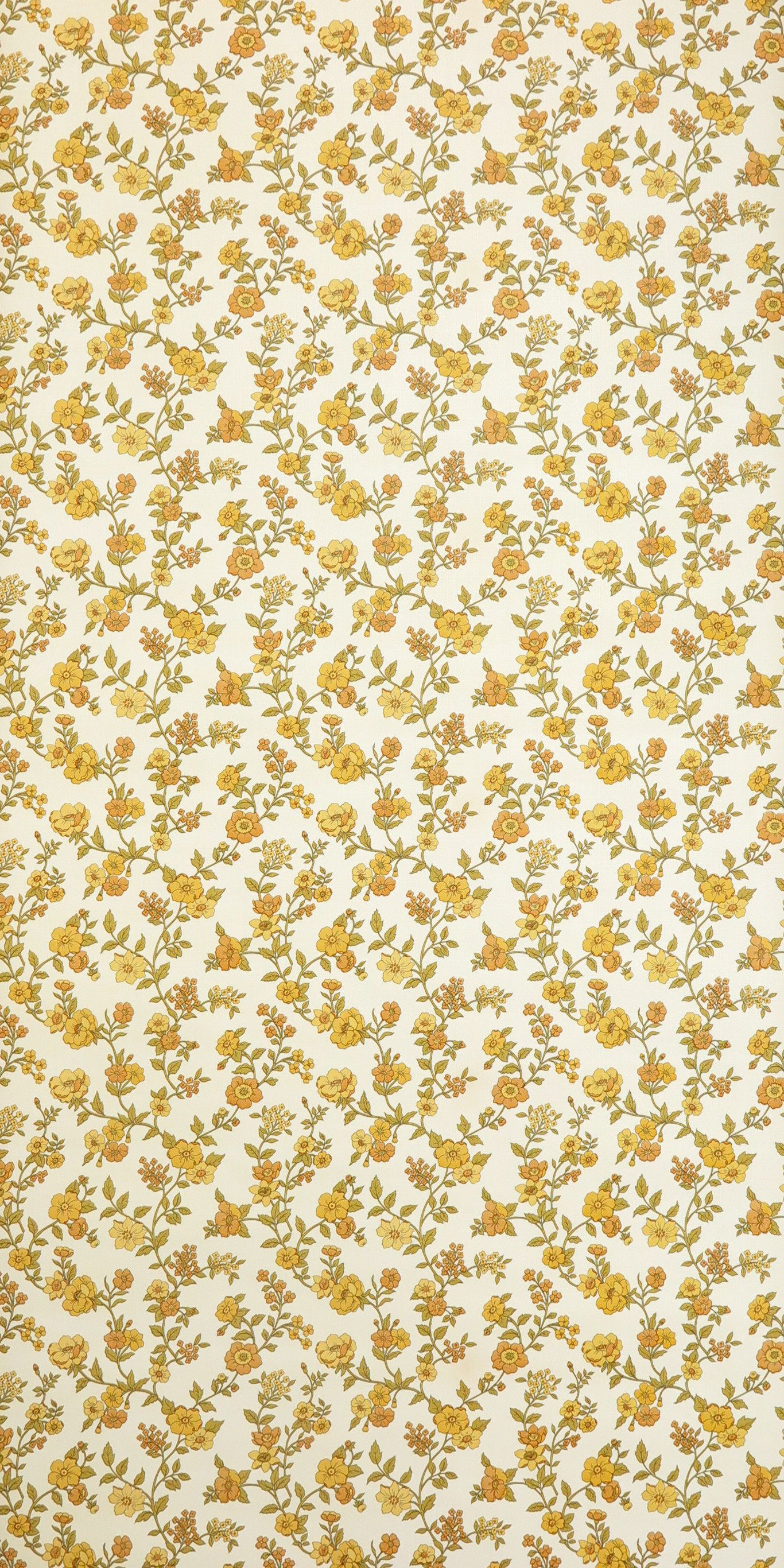 Vintage Wallpaper buttercup per meter