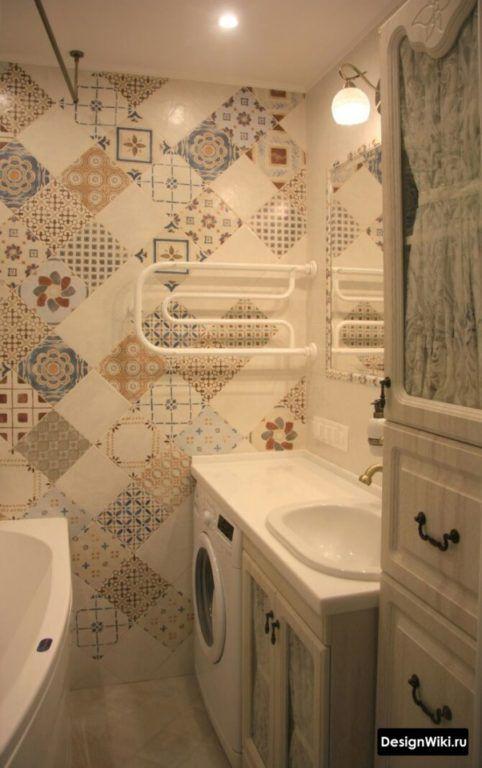 Дизайн Ванной в Хрущевке: 79 реальных фото и 7 правил ...