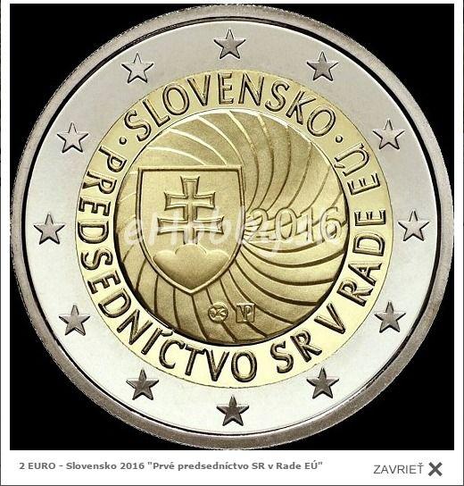 Unikátna 2 Eurovka Len Za 2 Eurá Http Www Ehobby Sk Euromince 2 Euro Slovensko 2016 Prve Predsednictvo Sr V Rade Eu Euro Coins Euro Coins