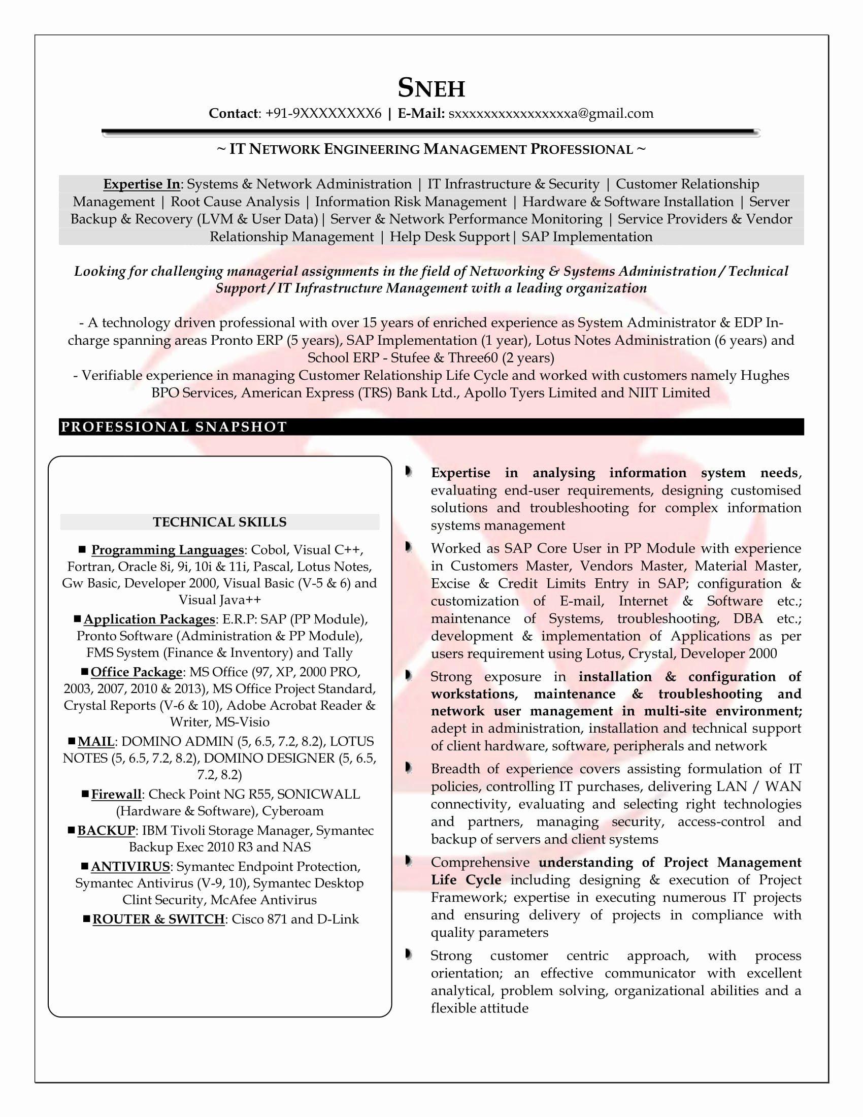 25 network engineer resume sample in 2020 job resume
