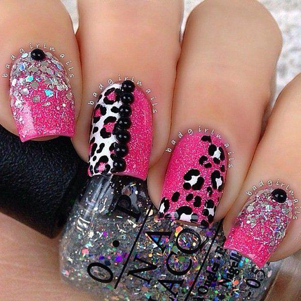 60 Glitter Nail Art Designs Pinterest