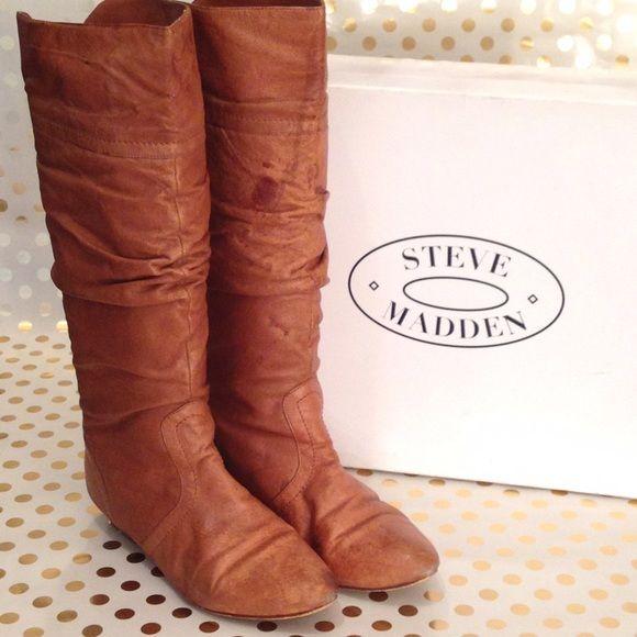 Steve Madden Boots Boots size 6 color cognac Steve Madden Shoes Combat & Moto Boots