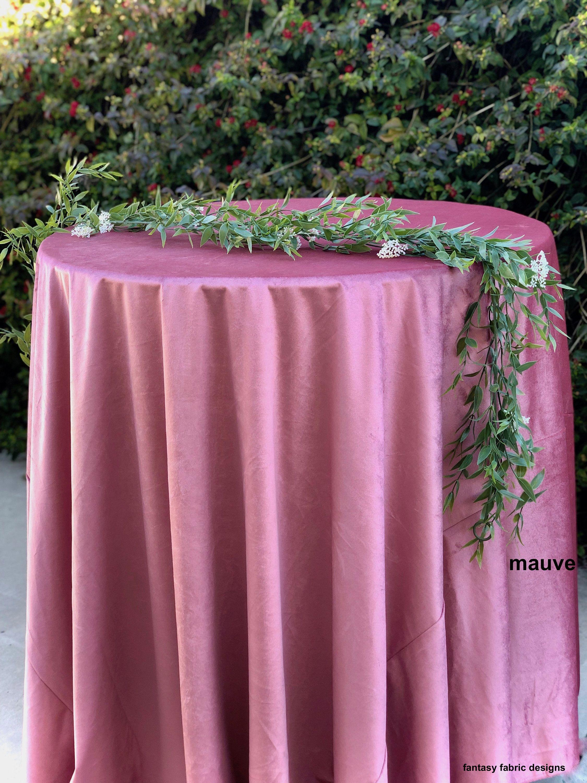 Mauve Velvet Tablecloth Blush Blush Wedding Pink Table Cloth Pink Wedding Decor Blush Dusty Rose Wedding Pink Wedding Decorations Baby Shower Cake Table