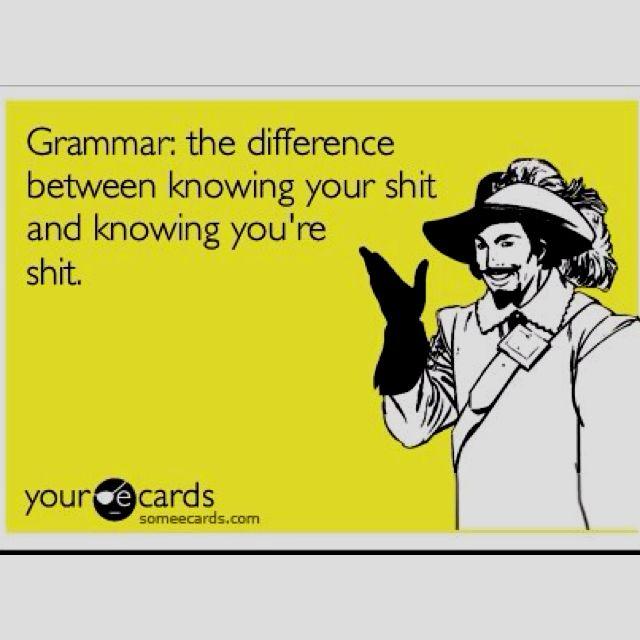 Good grammar by golly
