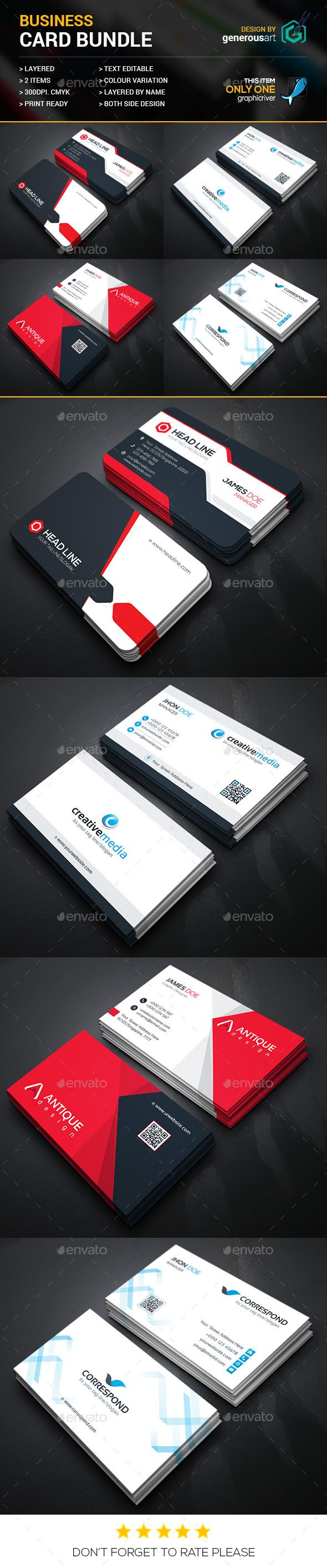 Business card bundle 4 in 1 corporate business card template business card bundle 4 in 1 corporate business card template vector eps accmission Images