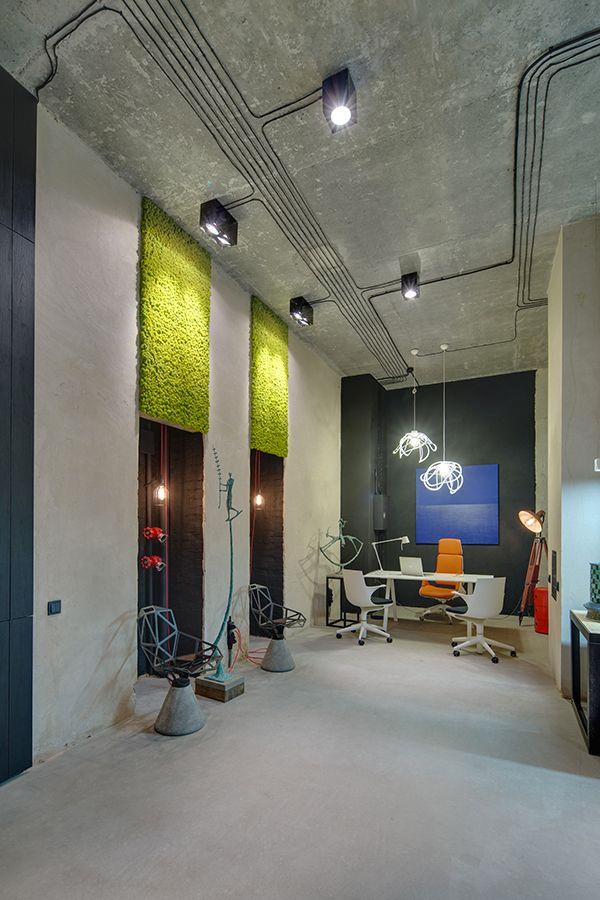 Licht Beleuchtung Betondecke Wohnen Einrichtung Dekoration