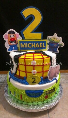Toy Story Birthday Cake All Buttercream With Images Toy Story