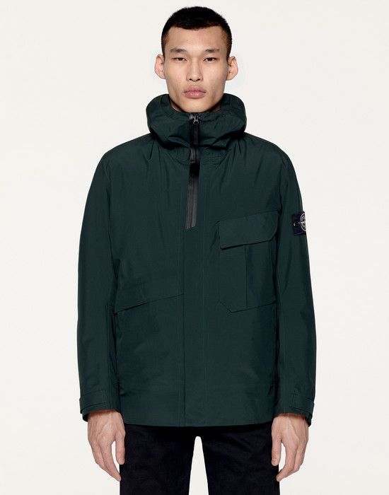 41329 TANK SHIELD MULTI LAYER FUSION TECHNOLOGY Manteau Court Stone Island  Homme Boutique Officielle ca98fd13ef40