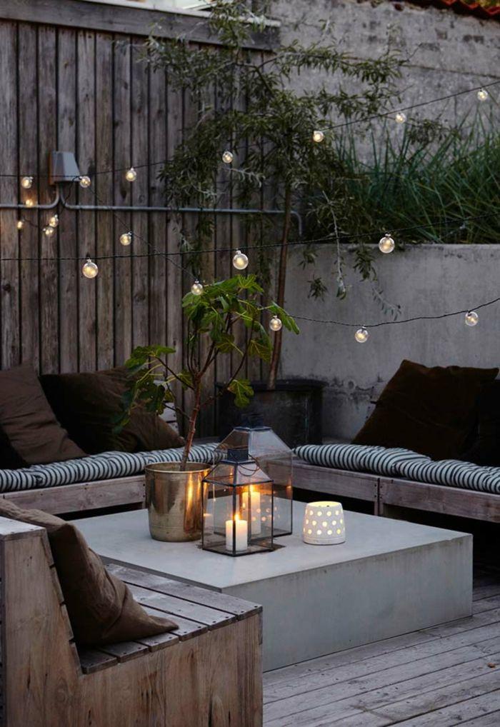 Déco Terrasse Avec Guirlande Guinguette Jardin