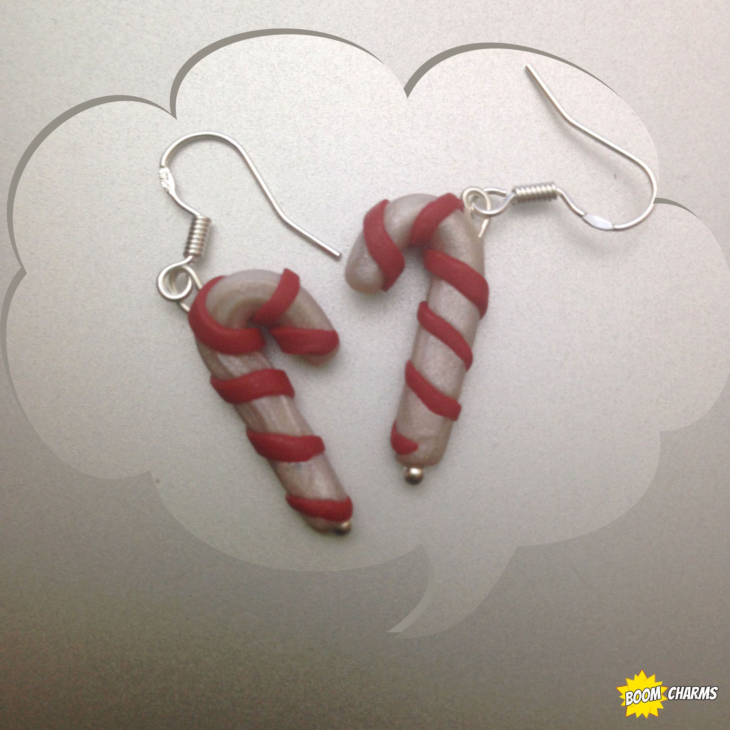 Cutest Candy Cane Charm Earrings #geek  Boomtastic Charms!  Pinterest   Geek Culture, Canes And Charms