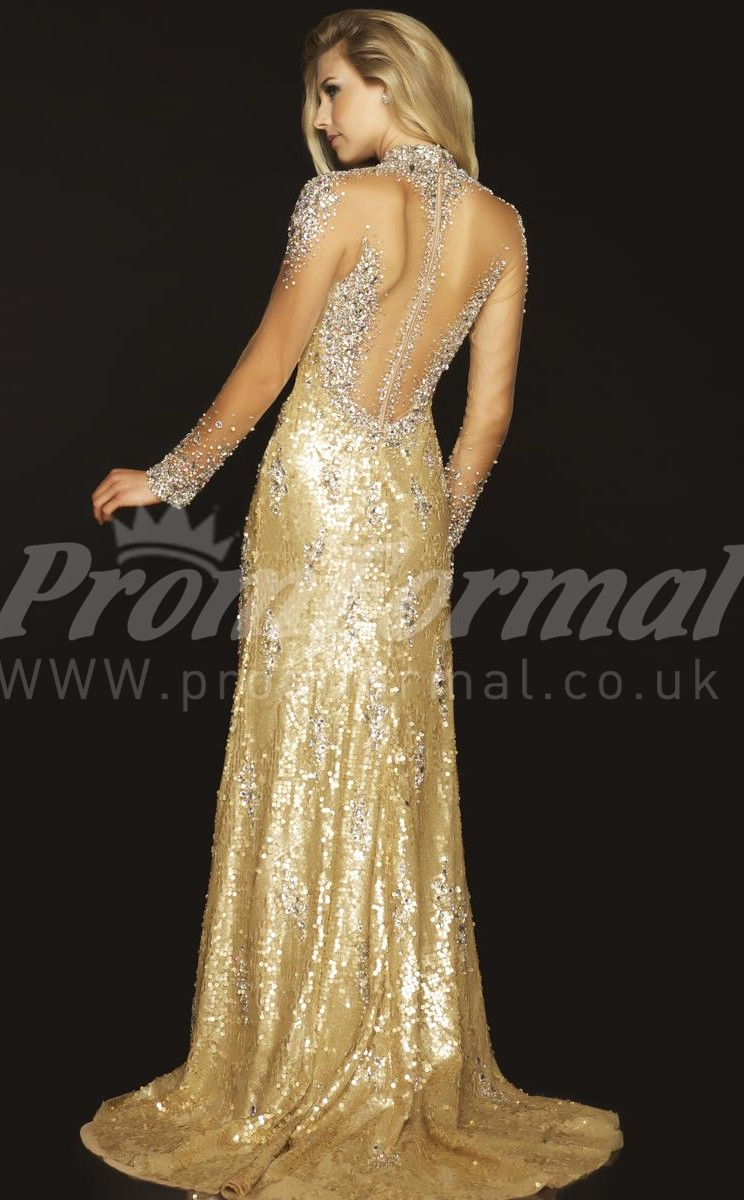 Gold long sleeve prom dresses prom pinterest gold long sleeve