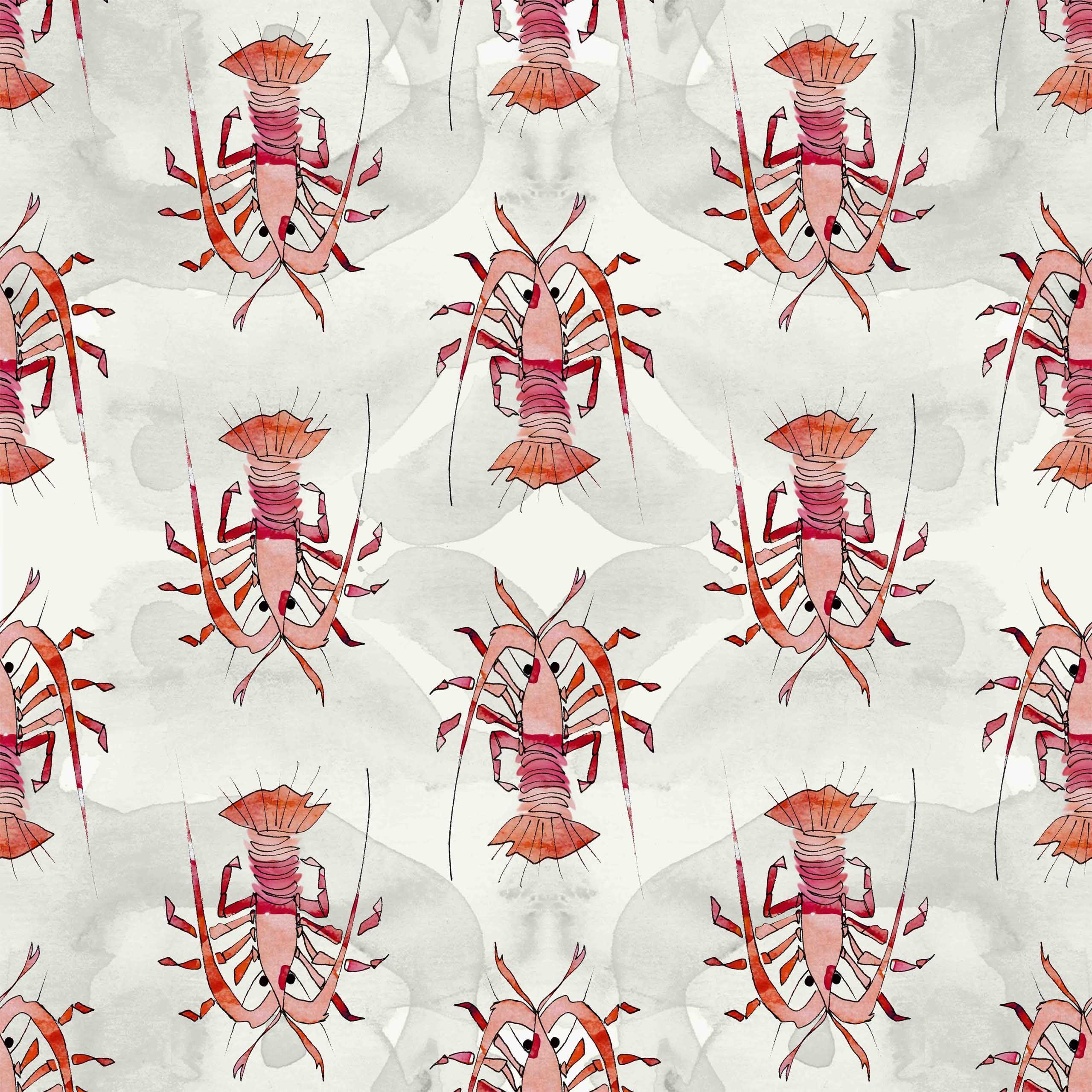 lobsters eva bellanger fabric and patterns 18 pinterest. Black Bedroom Furniture Sets. Home Design Ideas