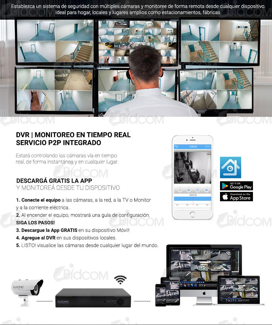 DVR para 8 Cámaras IP CCTV | DVR para 8 Cámaras IP CCTV | Servicio