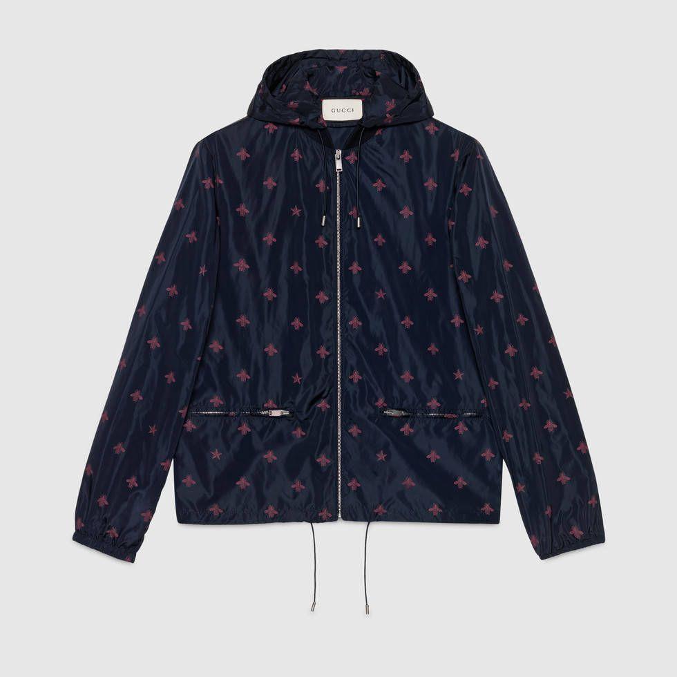 707693f1cce Men s Gucci Bee star nylon jacket