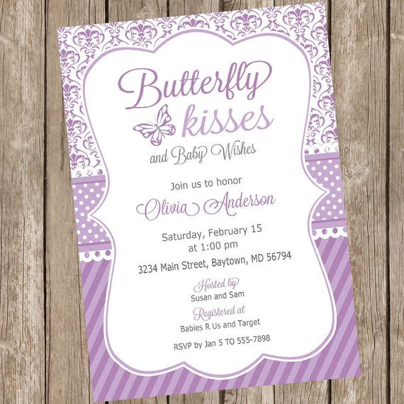 Butterfly kisses baby shower invitation by modernbeautiful on etsy butterfly kisses baby shower invitation by modernbeautiful on etsy baby shower purple lavender baby showers filmwisefo
