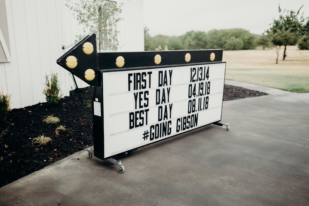 Rent This Vintage Marquee Sign for Your DallasFort Worth