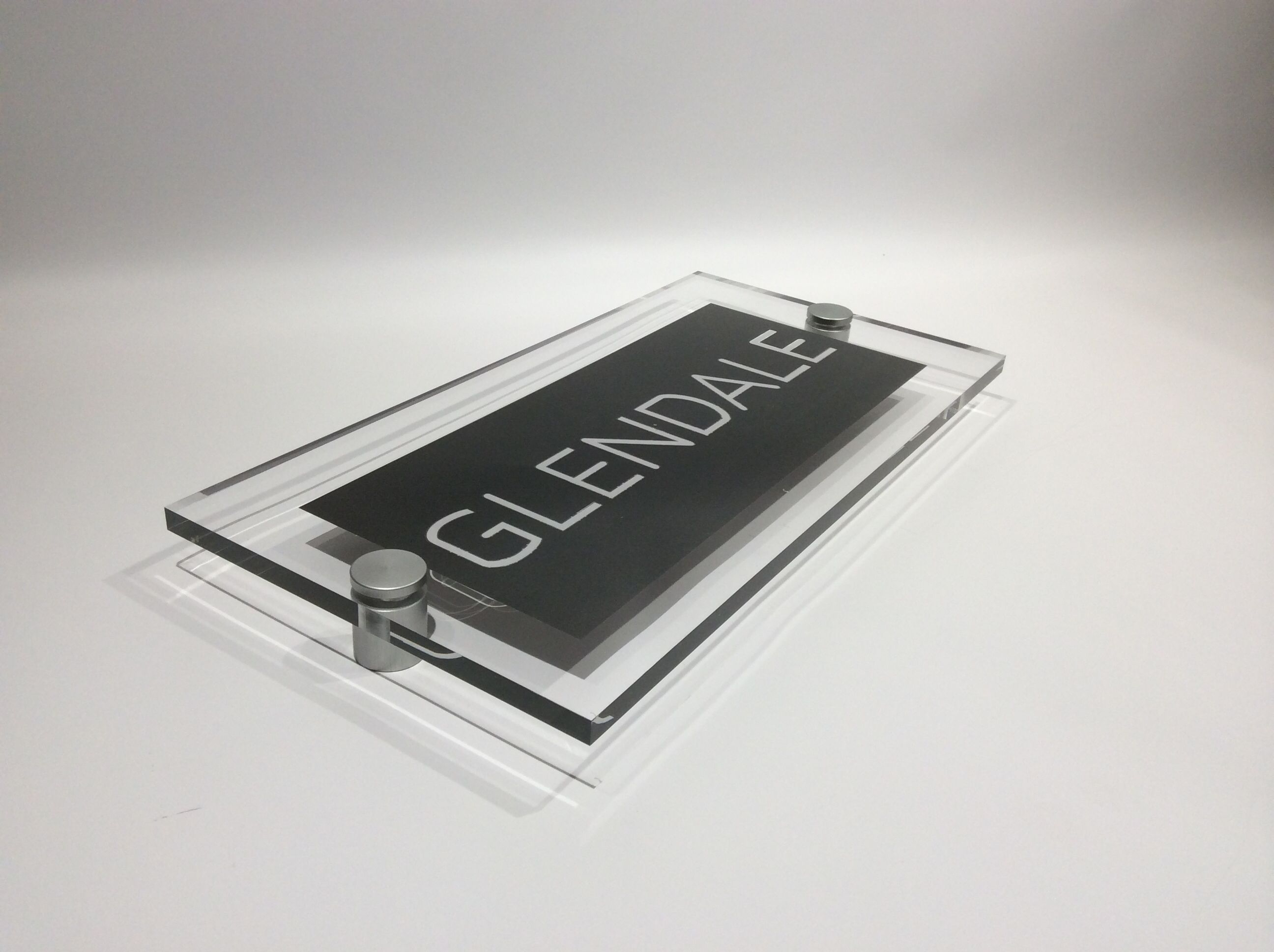 A Cut Above The Rest Beautiful Glass Acrylic House Name Plates