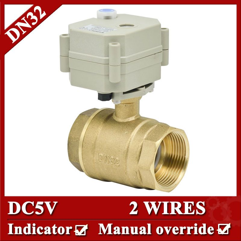 "New 1//2/"" 3 Way T Port Brass Motorized Ball Valve,DC5V//12V Electrical Ball Valve"