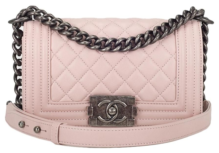 cc44ff20d547 Chanel Baby Pink Lambskin Small Boy Shoulder Bag. Get one of the hottest  styles of