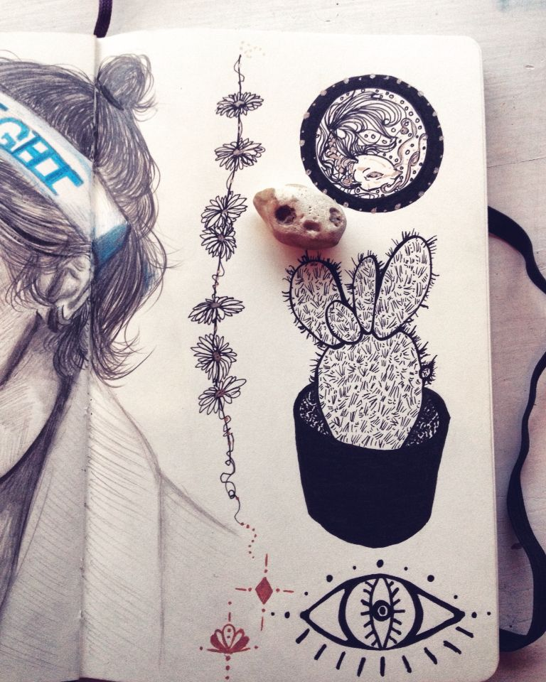 •Inky tattoo like designs•