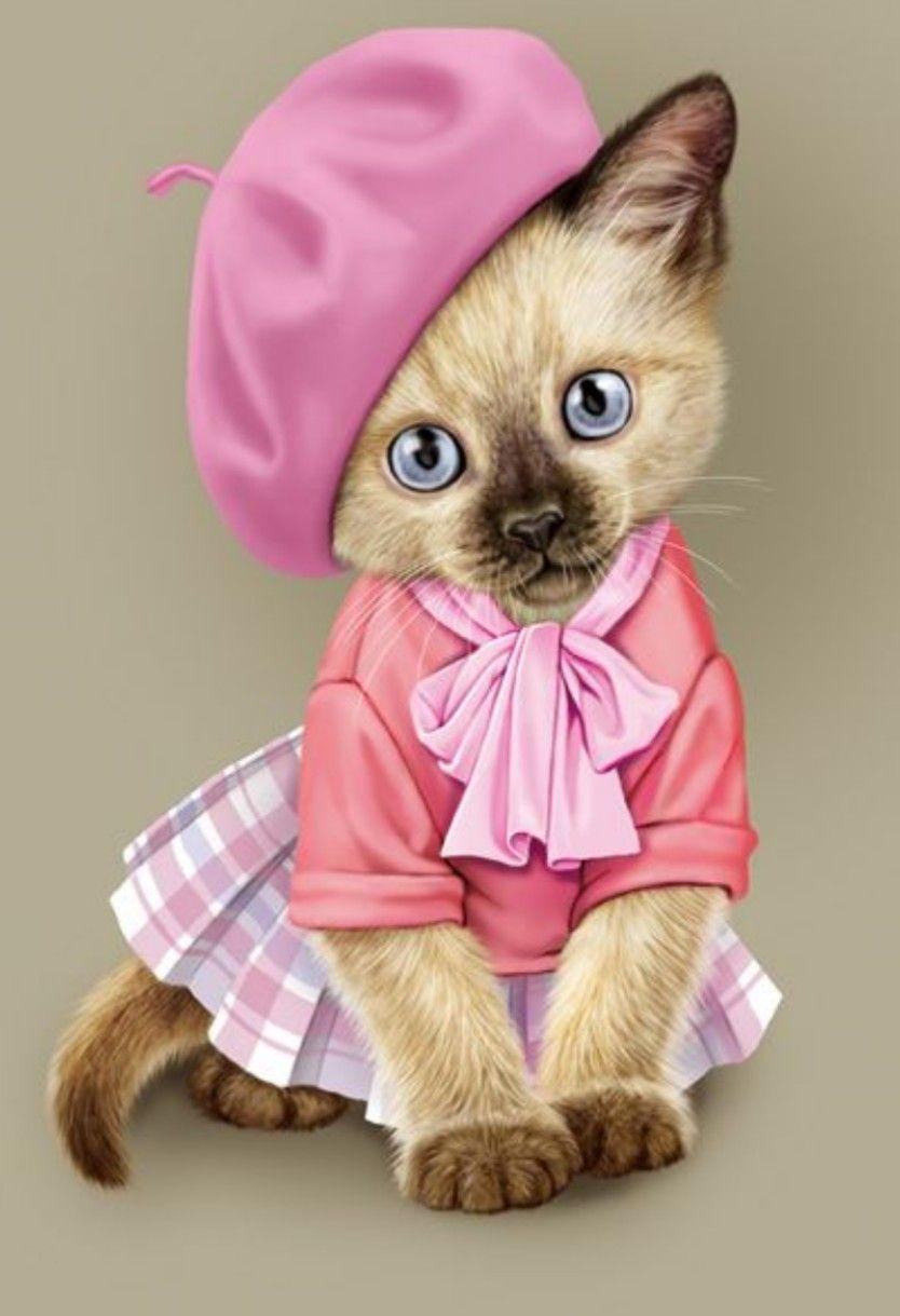 Pin De Joan Lodes Em Clip Pintura De Gato Bichinhos Fofos Gatinhos Fofos