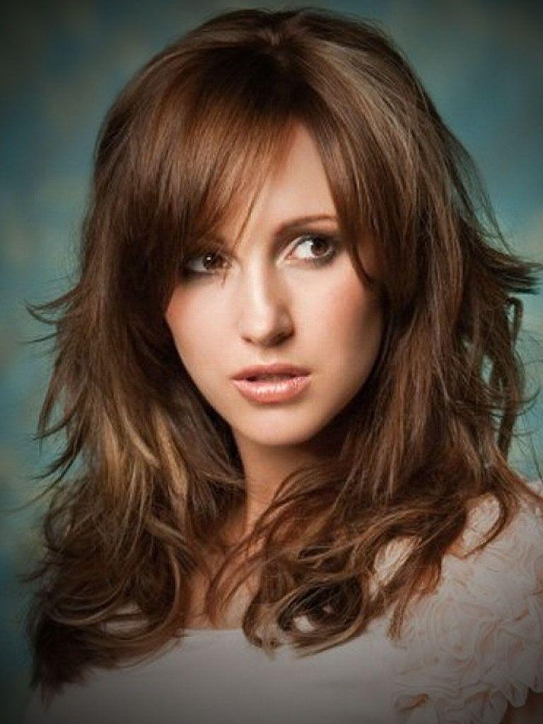 Long Layered Hairstyles with Bangs - WOW.com - Image Results | Medium length curly hair, Medium ...