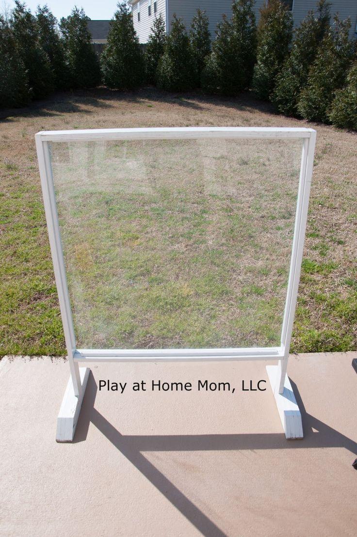 Backyard Plexiglass Easel Easy Clean Up Outside Family