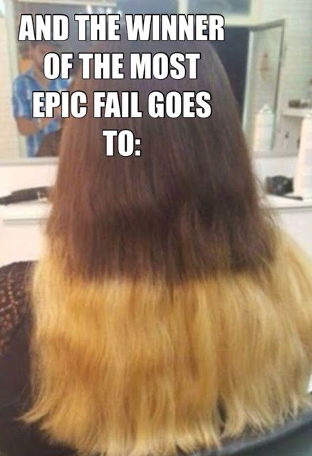 Endless Madhouse Ombre Hair Epic Fails Funny