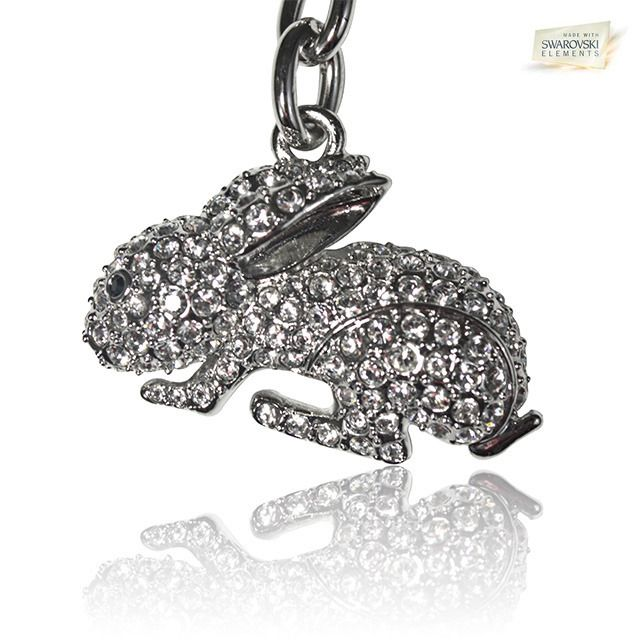 Crystals Rabbit Keychain Made With Swarovski Crystals The last thing you grab before you head out the door for a night on the town are your keys. When you