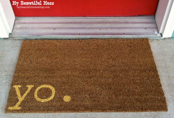 the 25 best welcome mats ideas on pinterest doormats funny doormats and cool doormats. Black Bedroom Furniture Sets. Home Design Ideas