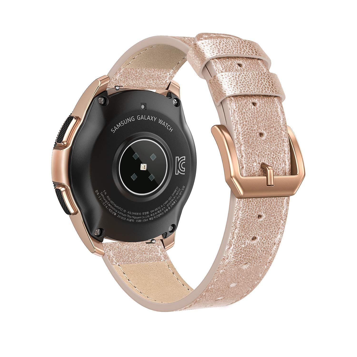 SWEES Leather Band 20mm Rose Gold 9.90