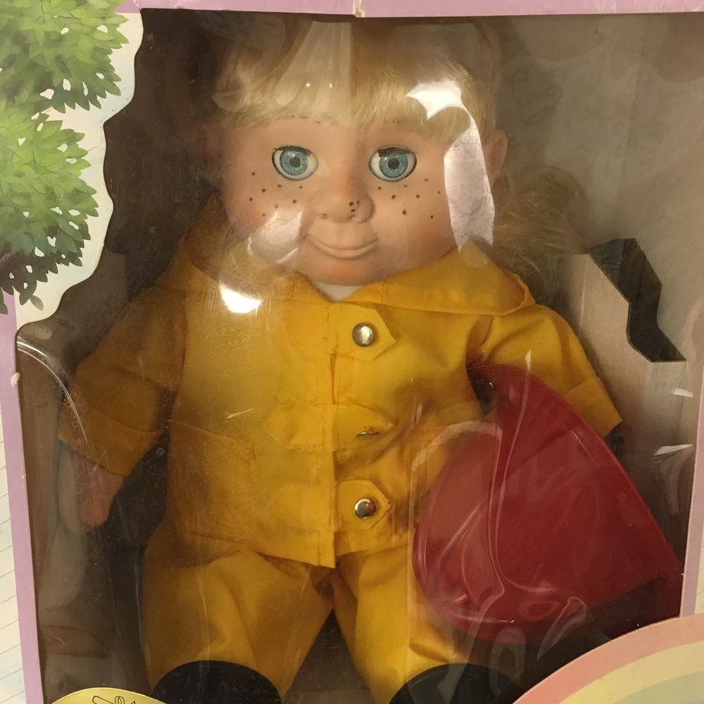 "Wanna - Be ""A Firefighter"" Doll Girl Blonde In Yellow Outfit Fireman 1986 New #WannaBe #Dolls"