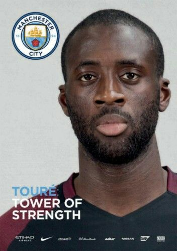 Man City 0 Man Utd 0 in April 2017 at the Etihad Stadium. The programme cover #Prem