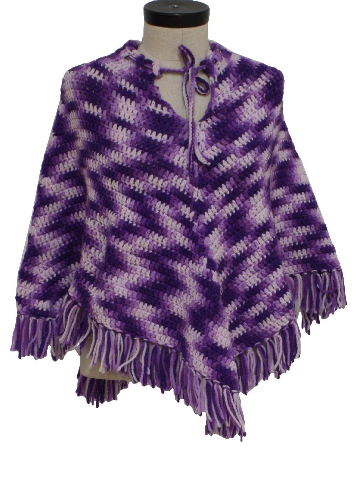 Freecrochetponchopatternsformen of purple acrylic crocheted freecrochetponchopatternsformen of purple acrylic crocheted bankloansurffo Images