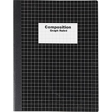 Staples Graph Composition Book 9 75 X 7 5 Graph Paper Notebook Black At Staples In 2020 Graph Paper Notebook Composition Notebook Graph Notebook