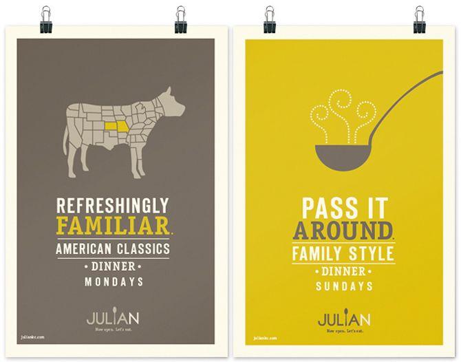 Julian Restaurant Branding Poster Design Restaurant Pinterest