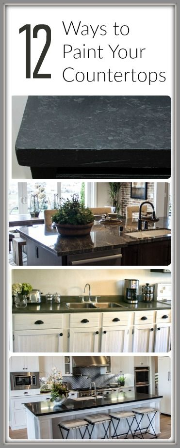 How to Paint Countertops- 12 Tutorials | Cocinas, Barra desayunadora ...