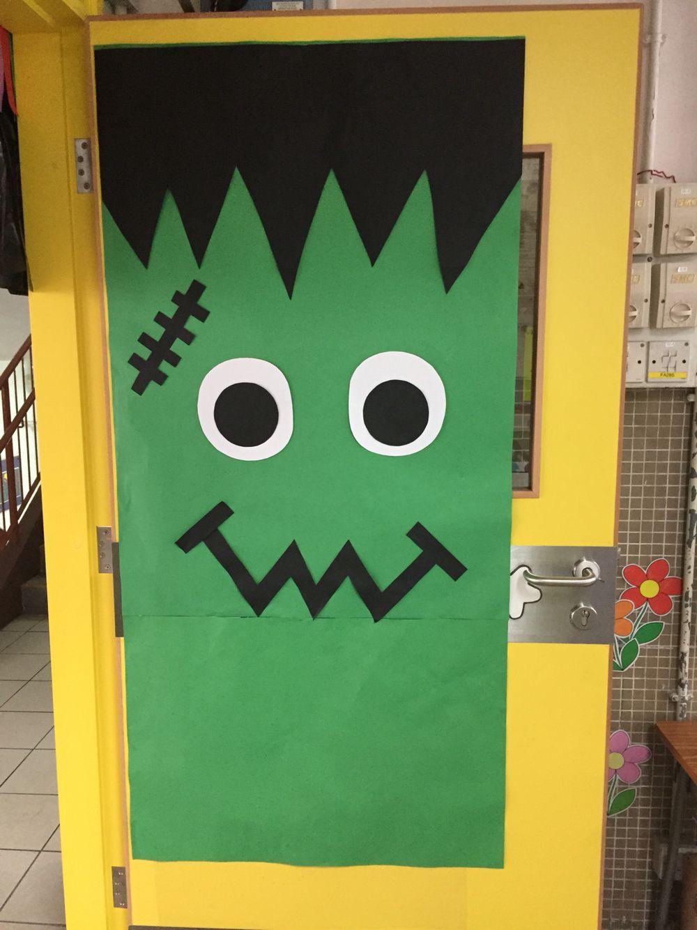 frankenstein door cute viv u0027s classroom decorations pinterest - Halloween Classroom Decorations
