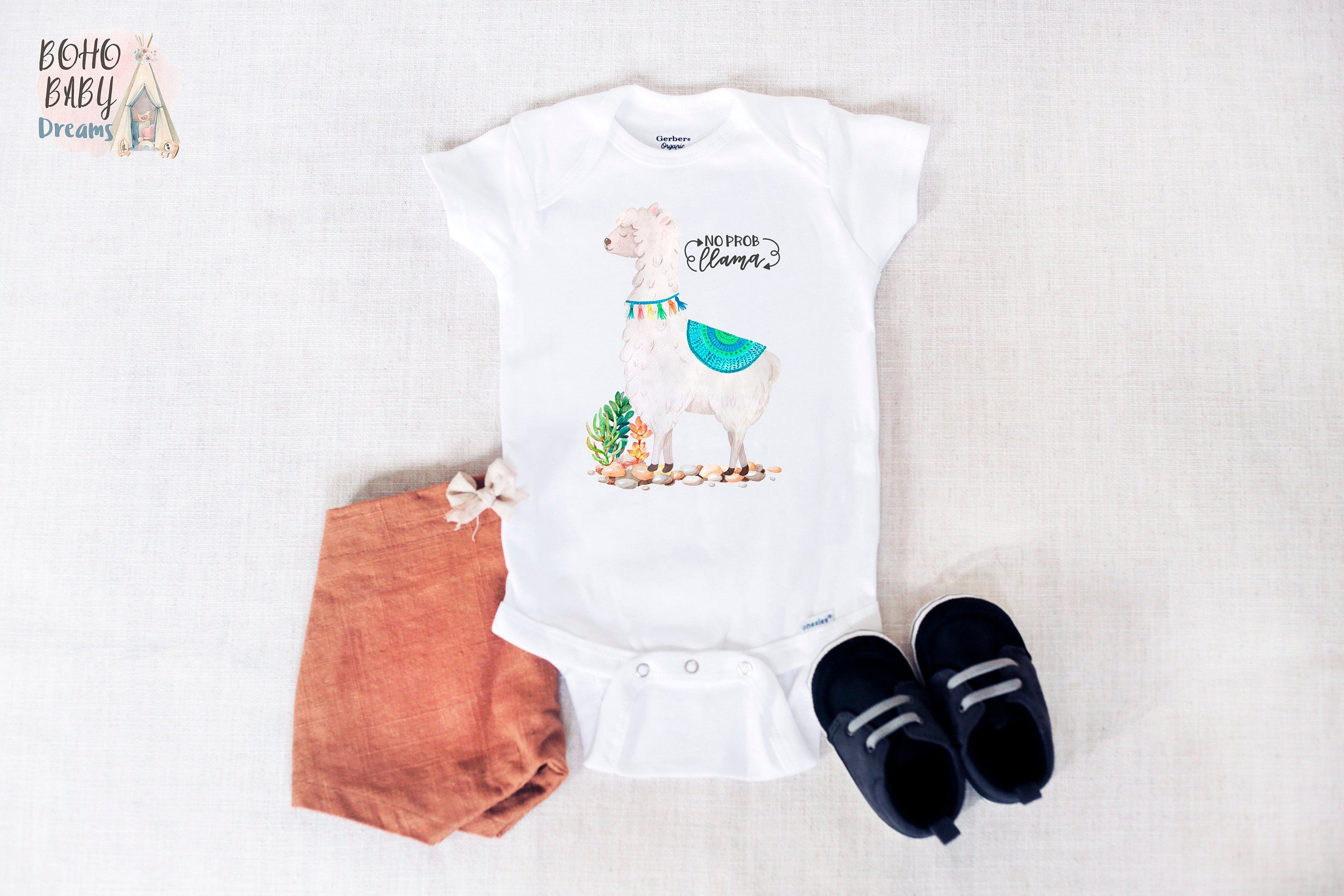 a7664ff598826 No Pro-llama Baby Onesie® , Funny Baby Bodysuit, Farm Baby Outfit, Baby  Shower Gift, Newborn Baby Clothes, Llama Onesie®, Llama Baby Gifts