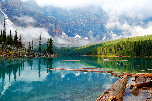 Mountain Lake, Alberta, Canada  photo by jesus