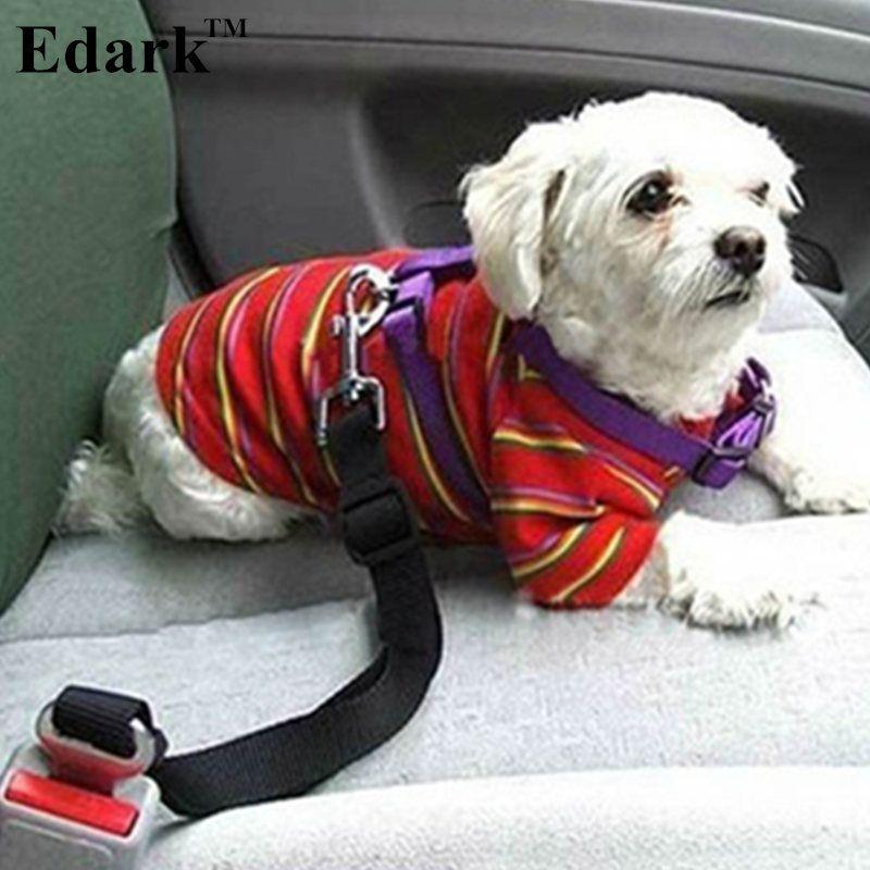 Edark Pet Dog Adjustable Car Safety Seat Belt Dogs Pets Seatbelt Cat Dog Carriers Leads Belts Dog Accessories